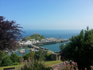 Ilfracombe Harbour from Hillsborough Road, showing Verity, and Lantern Hill.