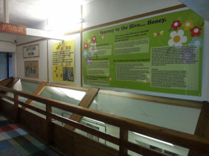 A lot of information is presented on display boards but it is well written and laid out, and is not the only source of information.