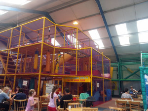 Soft play is quite large, as you can see, I couldn't get it all into one shot.